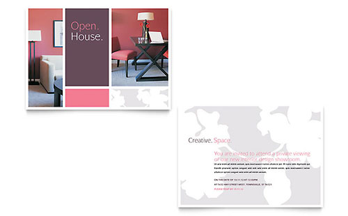 Interior Designer Announcement Template