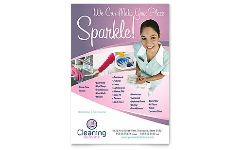 House Cleaning & Maid Services Flyer Template