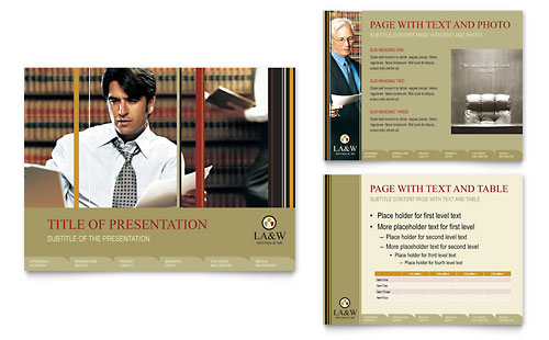 Lawyer & Law Firm PowerPoint Presentation Template