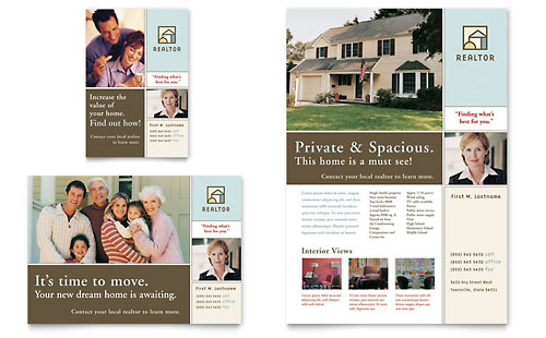 House for Sale Real Estate Flyer & Ad Template