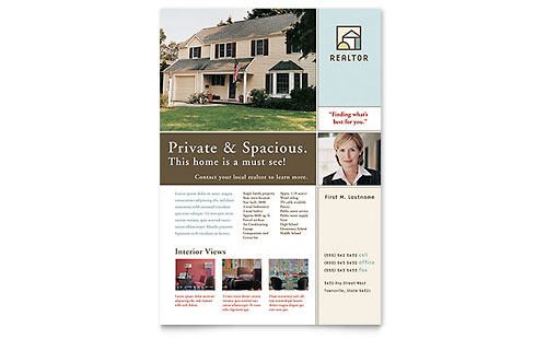 House for Sale Real Estate - Flyer Template