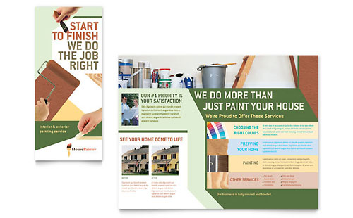 Painter & Painting Contractor - Brochure Template