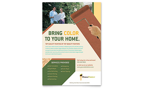 Painter & Painting Contractor - Flyer Template