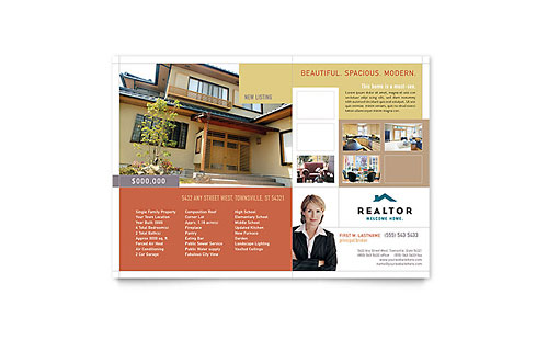 Realtor & Real Estate Agency Flyer Template