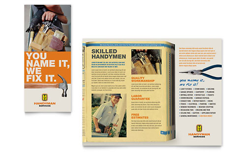 Home Maintenance Marketing Brochure Flyers Postcards
