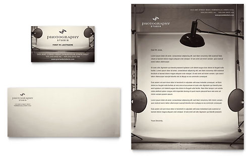 Photography Studio - Business Card & Letterhead Template