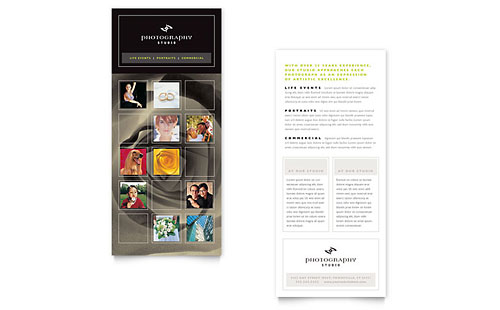 photography studio rack card template. Black Bedroom Furniture Sets. Home Design Ideas