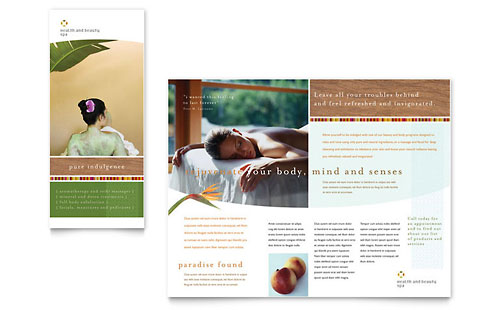 Health & Beauty Spa Brochure Template
