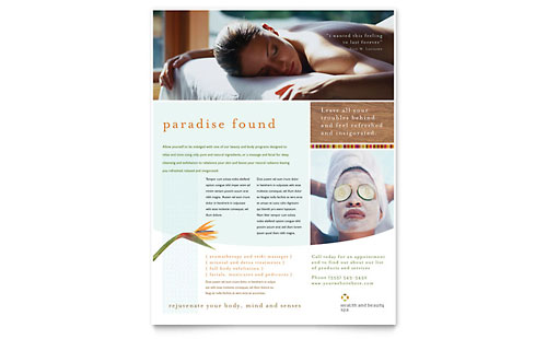 Health & Beauty Spa Flyer Template