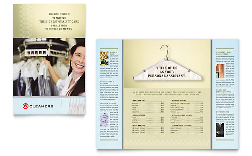 Laundry & Dry Cleaners Brochure Template