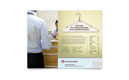 Laundry & Dry Cleaners Flyer Template