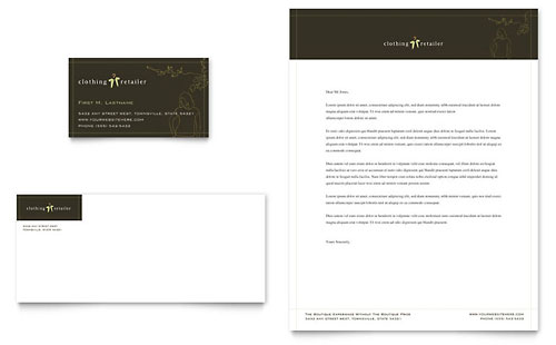 Women's Clothing Store Business Card & Letterhead Template