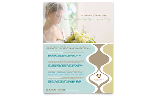 Wedding Store & Supplies Flyer Template