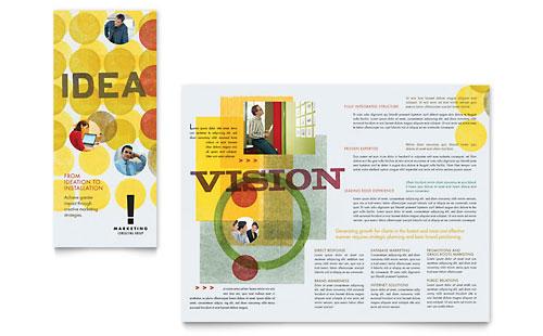 Marketing Consultant Tri Fold Brochure Template