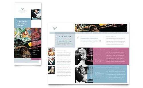 Limousine Service Brochure Template