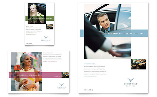 Limousine Service Flyer & Ad Template