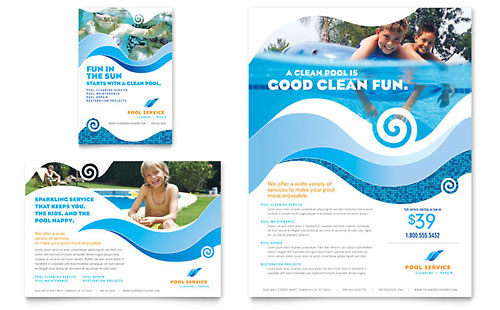 Swimming Pool Cleaning Service Flyer & Ad Template