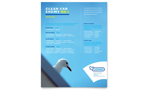 Car Cleaning Flyer Template