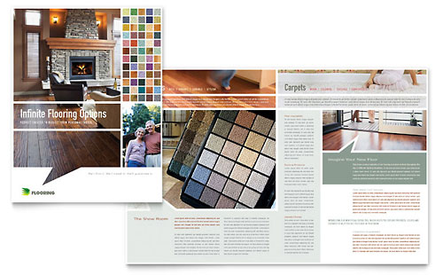 Carpet & Hardwood Flooring Brochure Template