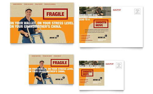 Movers & Moving Company Postcard Template