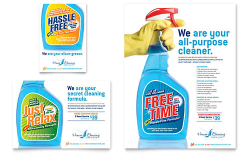 House Cleaning & Housekeeping Flyer & Ad Template