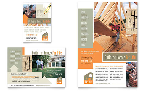 Home Building Carpentry Flyer & Ad Template