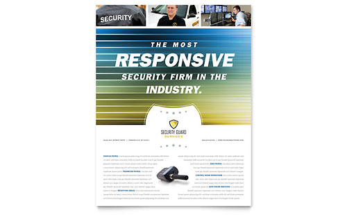 Security Guard Flyer Template