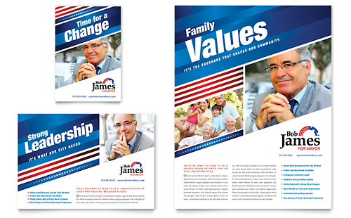 Political Campaign Flyer & Ad Template