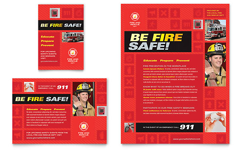 Fire Safety Flyer & Ad Template