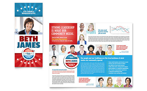 Political Candidate Brochure Template