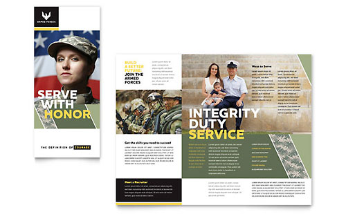 Military Brochure Template