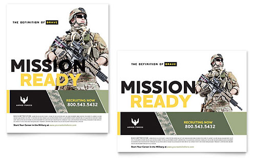 Military Poster Template