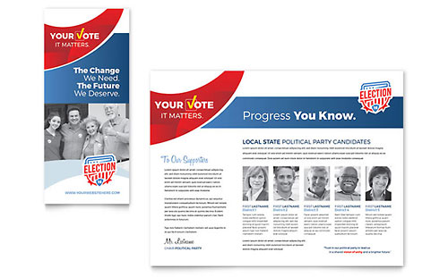 Election Print Design Brochure Template