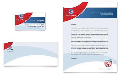 Election Business Card & Letterhead Template