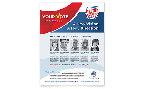 Election Flyer Template