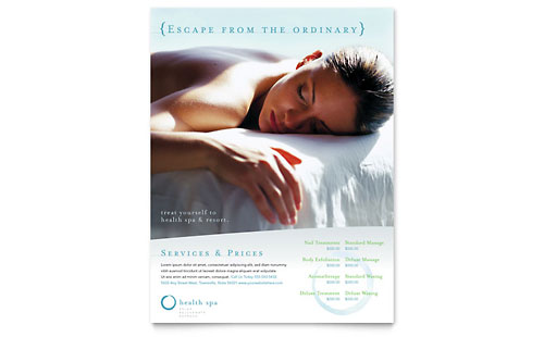 Day Spa & Resort Flyer Template