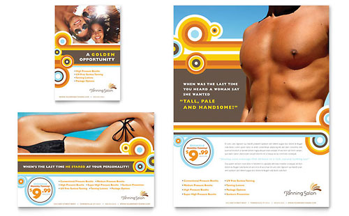 Tanning Salon Flyer & Ad Template
