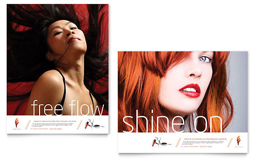 Hair Stylist & Salon Poster Template