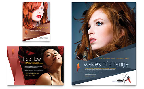 Hair Stylist & Salon Flyer & Ad Template