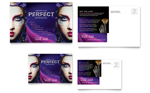 Makeup Artist Postcard Template