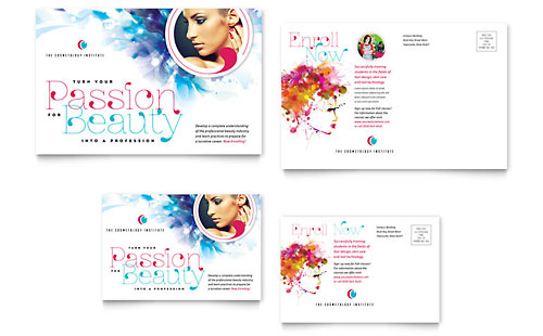 Cosmetology Postcard Template