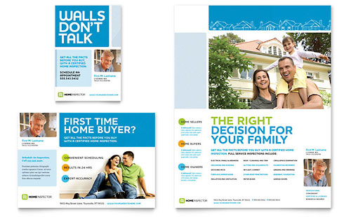 Home Inspection & Inspector Flyer & Ad Template