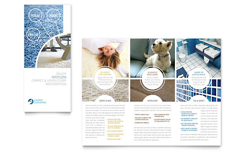 Carpet Cleaners Tri Fold Brochure Template