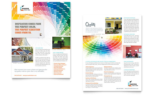 House Painting Contractor Datasheet Template