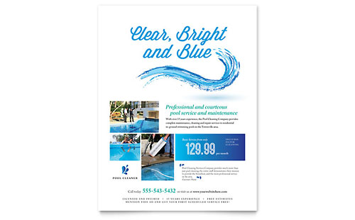 Pool Service Flyer Template