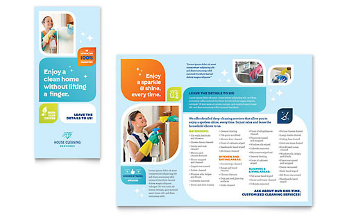 Cleaning Services Tri-Fold Brochure Template