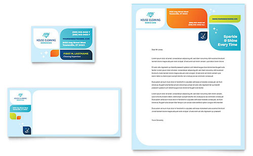 Cleaning Services Stationery Template