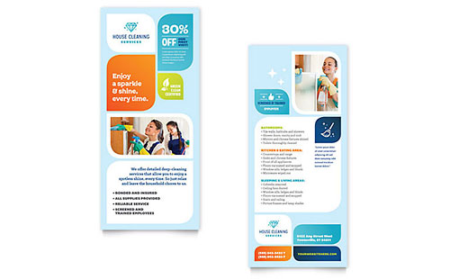 Cleaning Services Rack Card Template