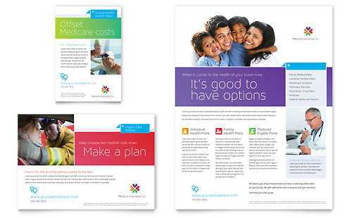 Medical Health Care Print Ads – Advertisement Flyer Template
