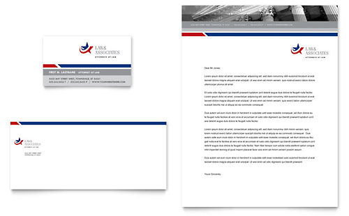 Legal & Government Services Business Card & Letterhead Template